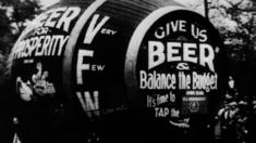 An anti-prohibition barrel which says