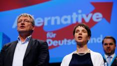 AfD leaders Frauke Petry (right) and Joerg Meuthen, 1 May 16