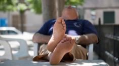 Man having a snooze