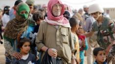 Refugees at Ruqban (file photo)