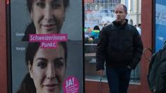 Picture of Vanja and Vania illustrates the Yes campaign in the Swiss citizenship referendum