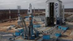 Soyuz 2 rocket at the Vostochny space centre in eastern Russia, 23 April 2016