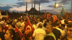 Nightly rally in Istanbul