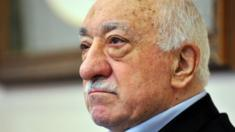 Islamic cleric Fethullah Gulen speaks to journalists on Sunday at his Pennsylvania compound