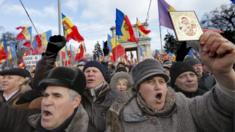 Anti-government rally in Chisinau, 24 Jan 16