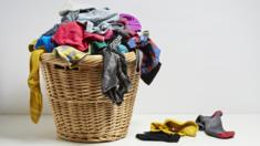 Basket of unsorted socks