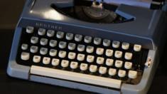 Old AZERTY typewriter
