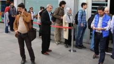 Visa queue in Istanbul