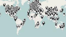 mapa de dispositivos Dead Drop en el mundo