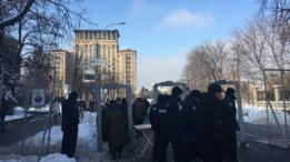Протесты в Киеве: несколько тысяч человек и пробки