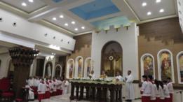 قداس التكريس في مدينة إربيل العراقية احتفالا بأعياد الميلاد