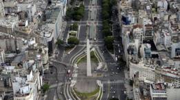 Vista aérea de Buenos Aires.