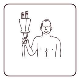 Hombre con toma de electricidad