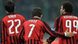 Kaká, Pato y Ronaldo en el Milan.