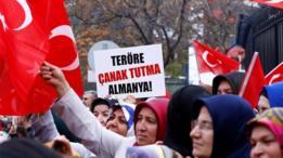 Una protesta en Turquía