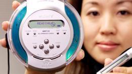 Un reproductor de CD y uno de MP3