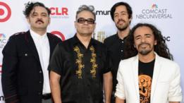 Los integrantes de Café Tacvba de izquierda a derecha: los hermanos Enrique y Joselo Rangel, Emmanuel del Real y Rubén Albarrán.
