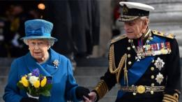 ملکہ برطانیہ اور انکے شوہر شہزادہ فلپس