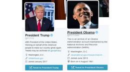 حسابات الرئاسة الأمريكية على تويتر