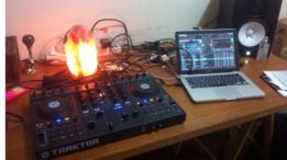 Laptop del DJ Zubreu