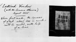 Negativo de William Henry Fox Talbot con comentario