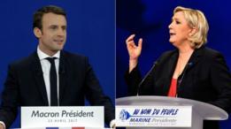 Emmanuel Macron y Marine Le Pen