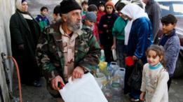 انقطاع مياه الشرب عن سكان دمشق بسبب القتال في وادي بردى