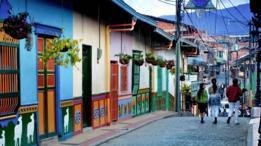 Un calle colonial de Colombia