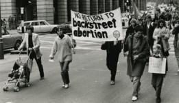 Una manifestación por la libertad de elegir en 1979.