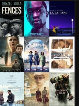 Películas nominadas a los Oscar 2017