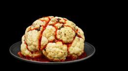 Coliflor con apariencia de cerebro ensangrentado