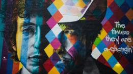 Mural de Bob Dylan en Minnesota hecho por el artista brasileño Eduardo Kobra.