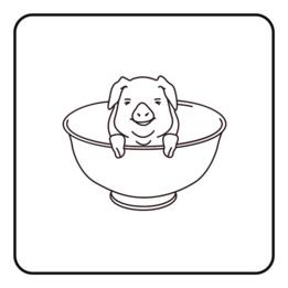 Cerdo en taza