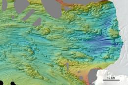 Atlas de formas de relieves glaciales submarinas