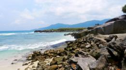La isla en las Seychelles