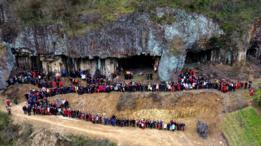 Las imágenes fueron tomadas en Shishe, un pueblo que pertenece a la provincia de Zheijiang, en el este de China.