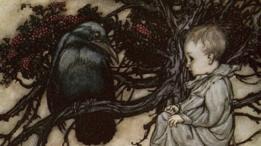 Solomon Caw y un bebé