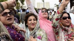 पाकिस्तान मुस्लिम लीग (नवाज़) के कार्यकर्ता