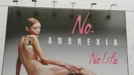 Anuncio contra la anorexia