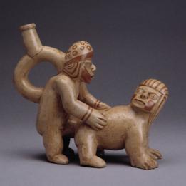 Esculturas de la cultura moche.