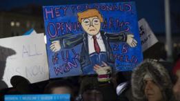 مظاهرة ضد ترامب في العاصمة الامريكية واشنطن