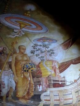La hija de Ashoka el Grande lo acompaña al árbol de higo sagrado de Sri Lanka