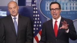 Gary Cohn, director del Consejo Nacional de Economía de EE.UU., y Steven Mnuchin, secretario del Tesoro.