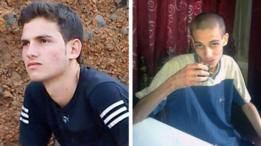 El joven sirio Omar al-Shogre antes de su arresto y luego de su salida de la prisión de Saydnaya