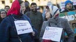احتجاجات ضد ترامب