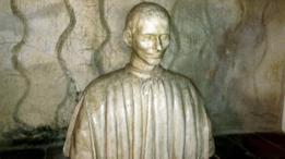 Un busto de Maquiavelo