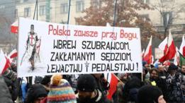 Una protesta en Polonia