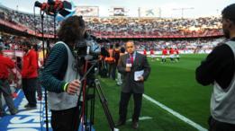 Periodista de televisión en la liga española