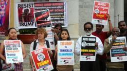 نظمت احتجاجات على قرار ترامب في مختلف مناطق الولايات المتحدة