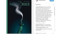 La nueva portada de The New Yorker muestra la Estatua de la Libertad con una llama extinguida